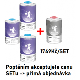 Set 3+1 Klarlak HS420 8-714...