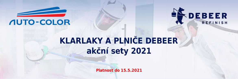 Klarlaky a plniče Debeer - akční sety 2021